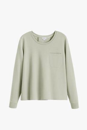 French Terry Pleat-Back Sweatshirt