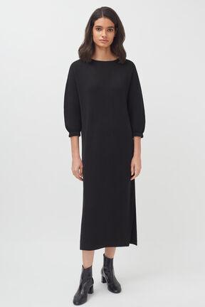 Alpaca V-Back Sweater Dress
