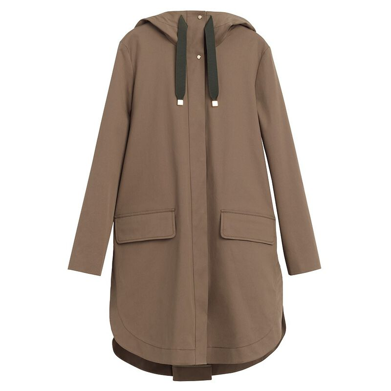 Pleat-Back Anorak in Olive