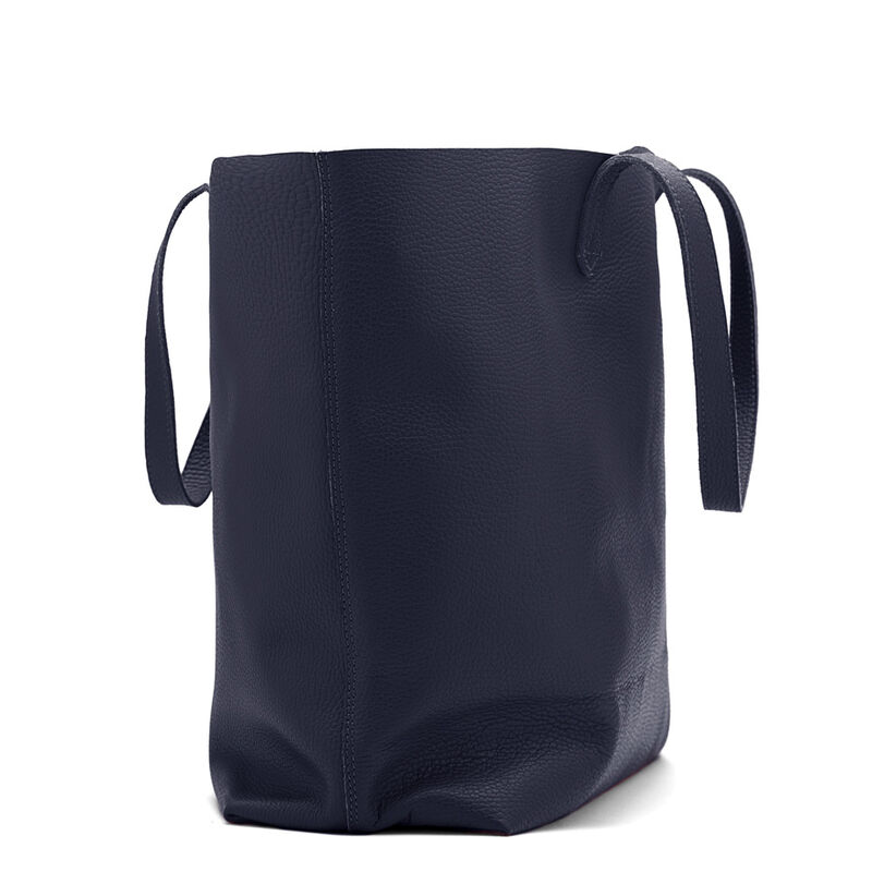 Classic Leather Tote in Navy
