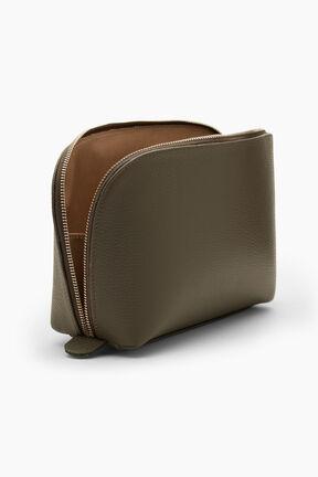 Leather Travel Case Set, Olive, plp