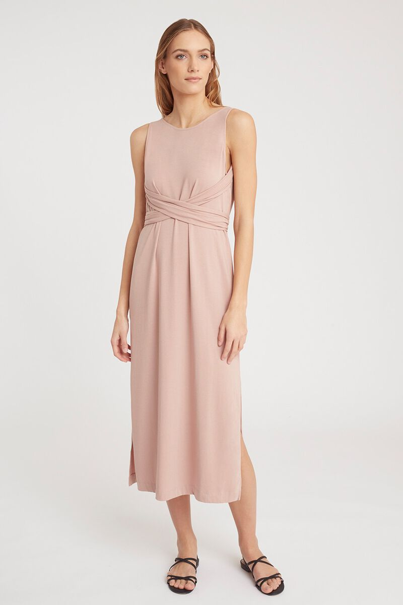 Wrap Maxi Dress in Quartz