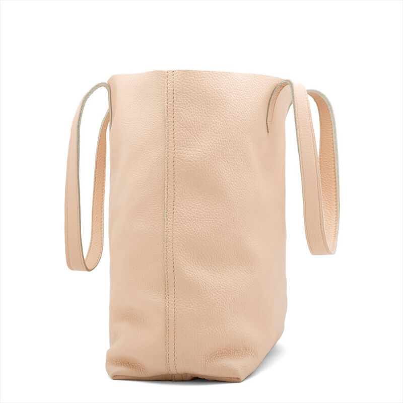 Classic Leather Tote in Blush