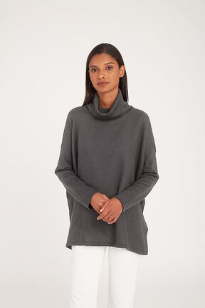 Baby Alpaca Oversized Turtleneck Sweater