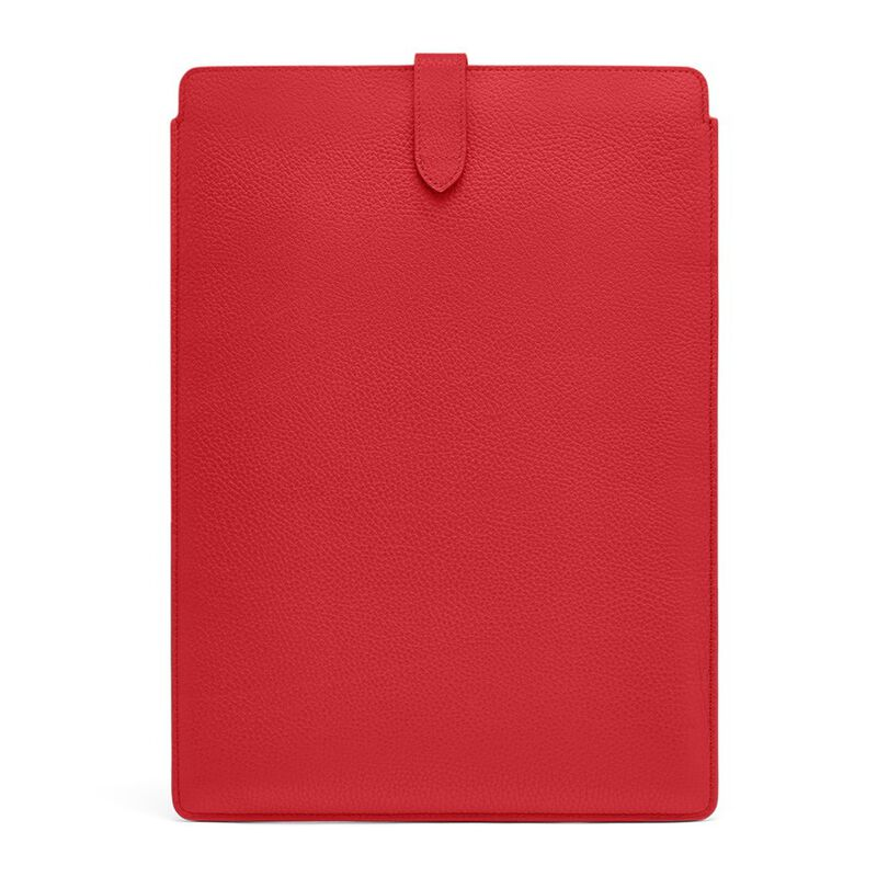 Leather Laptop Sleeve 16-inch in Red