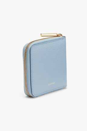 Small Classic Zip Around Wallet in Dusk Blue
