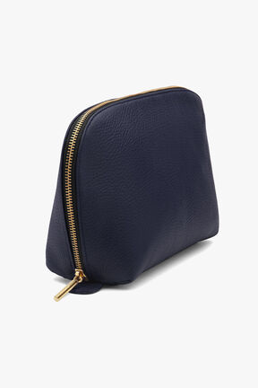 Leather Travel Case Set, Navy/Black, plp