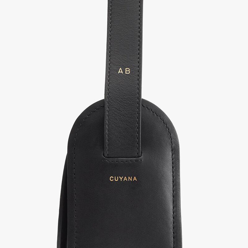 Modern Saddle Bag in Black