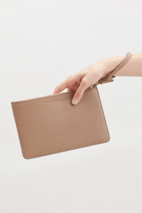 Slim Wristlet Wallet in Cappuccino