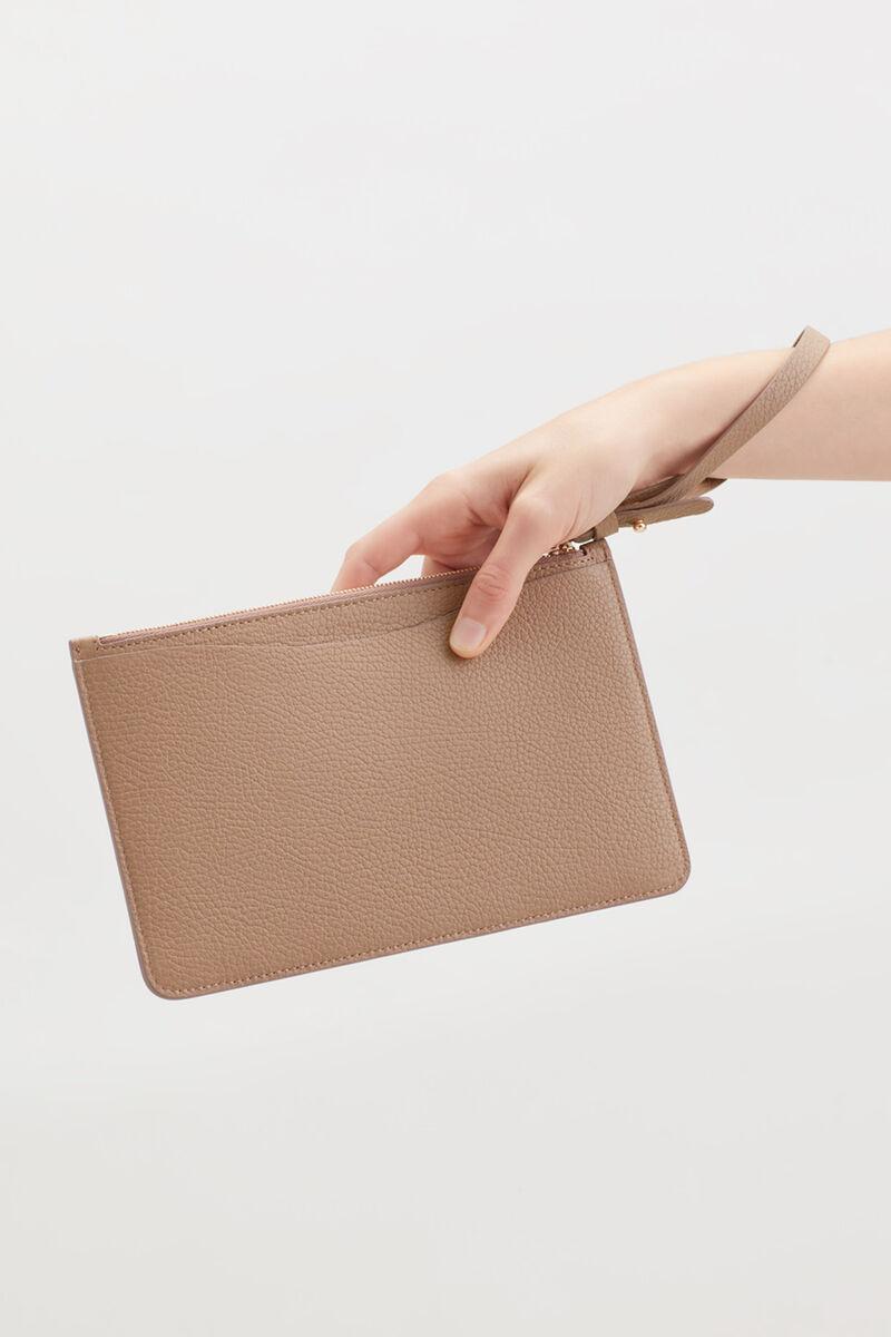 Slim Wristlet Wallet in Cappuccino