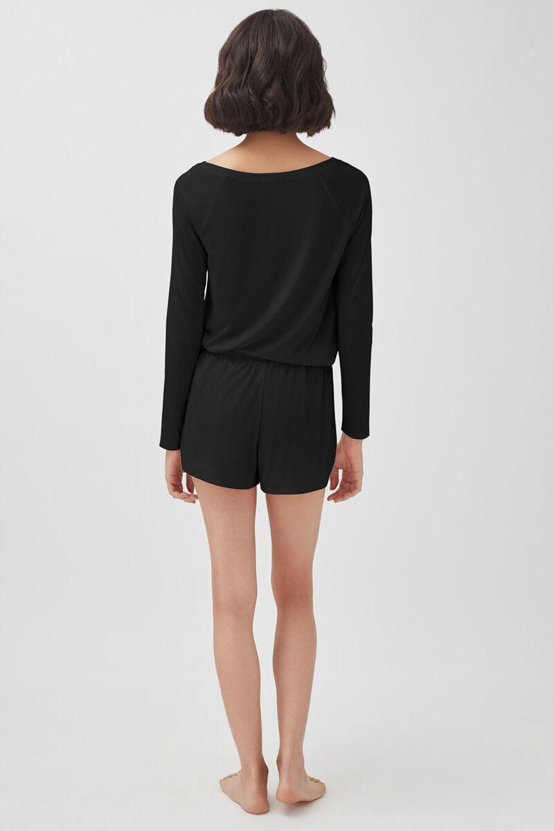 Pima Sleep Shorts in Black