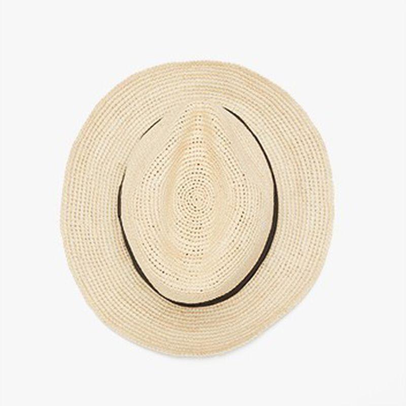 Folding Panama Hat, Natural/Black, large