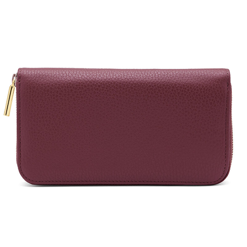 Classic Zip Around Wallet in Merlot/Blush