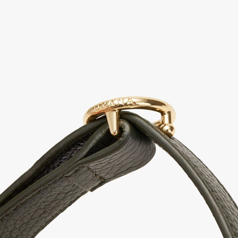 Circle Buckle Belt in Forest