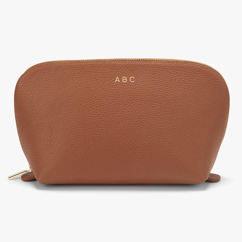 Leather Travel Case Set in Caramel