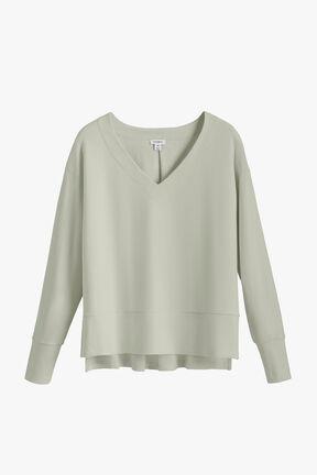 French Terry V-Neck Sweatshirt