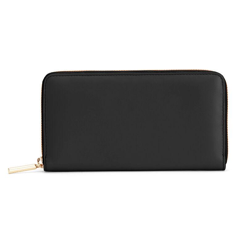 Classic Zip Around Wallet in Black