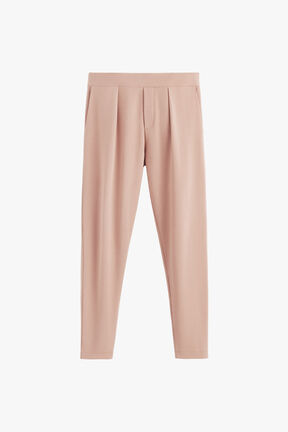 French Terry Pleated Front Pant