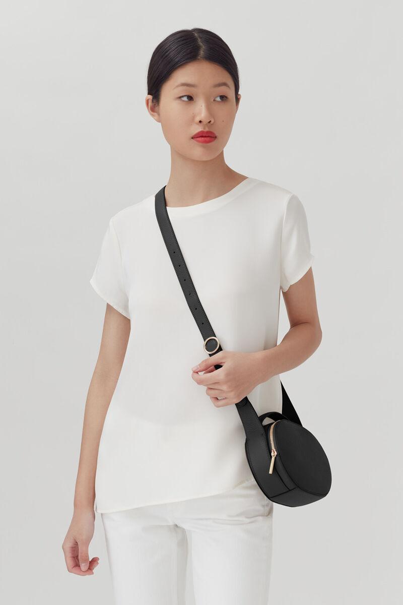 Top Handle Crossbody Bag, Black, large
