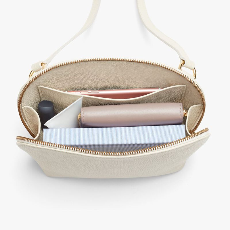 Travel Case Crossbody in Ecru