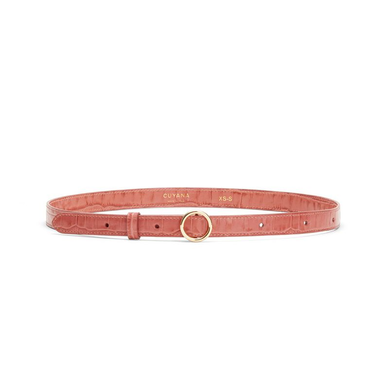 Circle Buckle Belt in Rose
