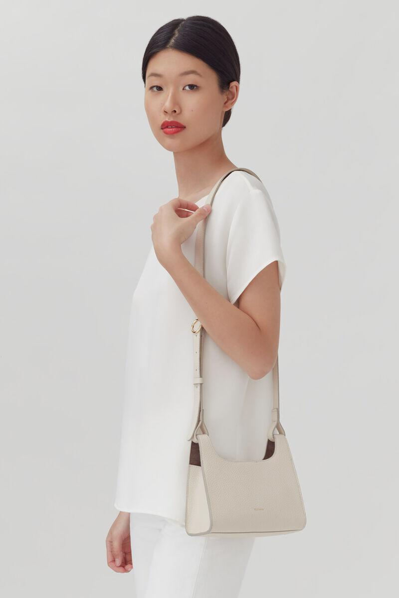 Mini Double Loop Bag, Ecru, large