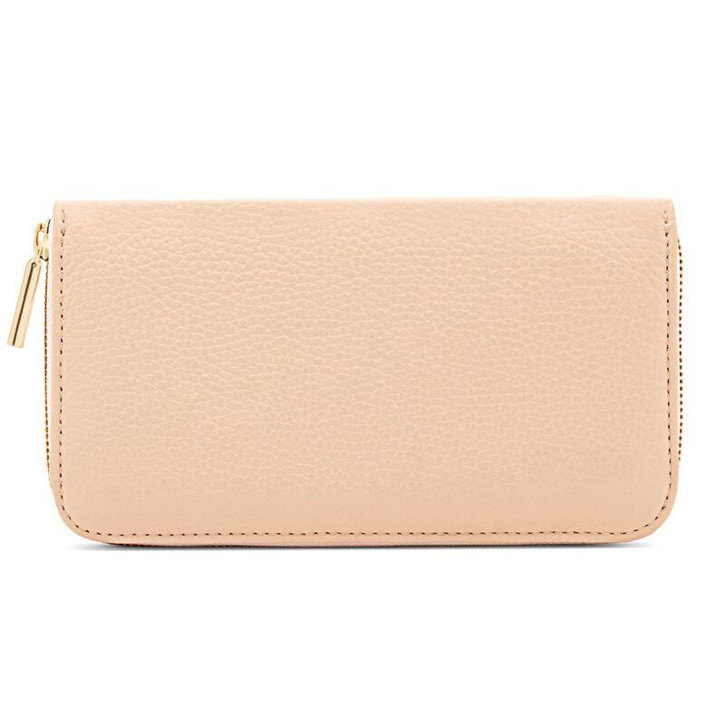 Classic Zip Around Wallet in Blush/Ecru