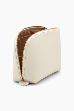 Leather Travel Case Set, Ecru, plp