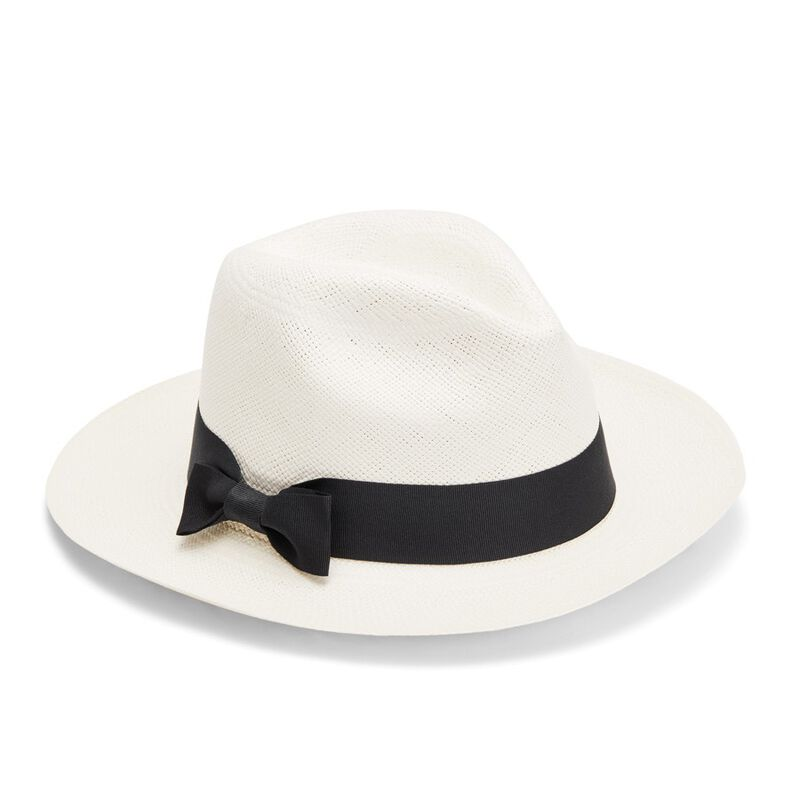 Panama Hat in White/Black