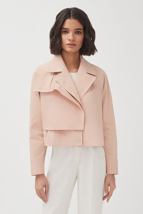 Cropped Trench, Soft Rose, plp