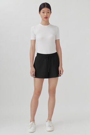 French Terry Shorts, Black, plp