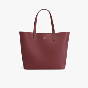 Classic Leather Tote, Merlot - Painted, mono-swatch