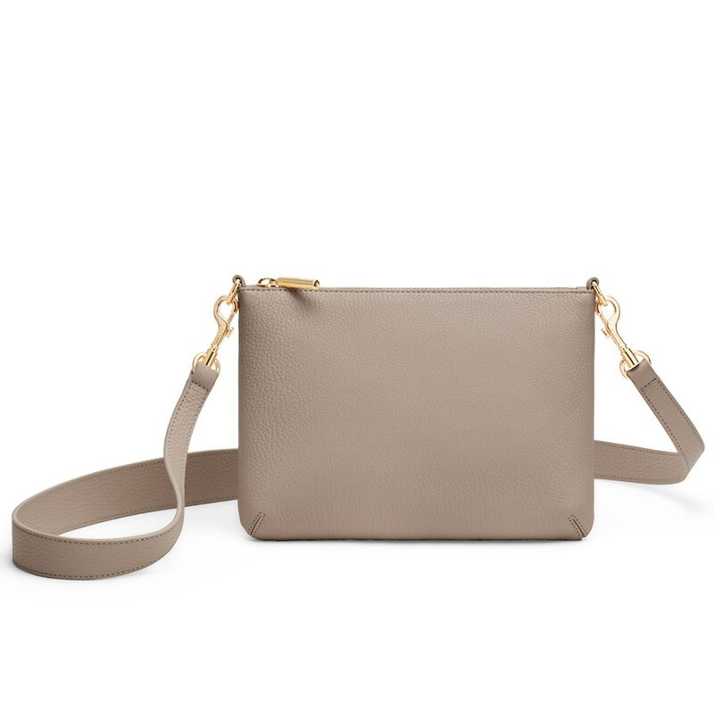 Curved Crossbody in Stone