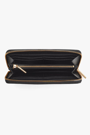 Classic Zip Around Wallet in Black
