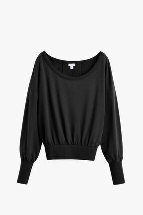 French Terry Boatneck Sweatshirt