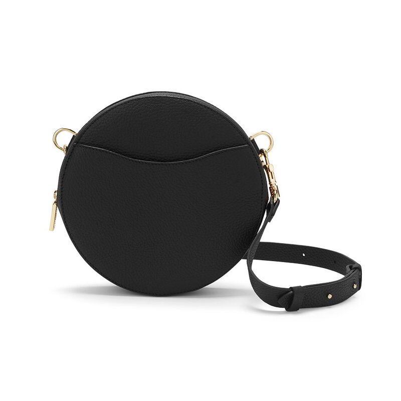 Mini Circle Belt Bag in Black