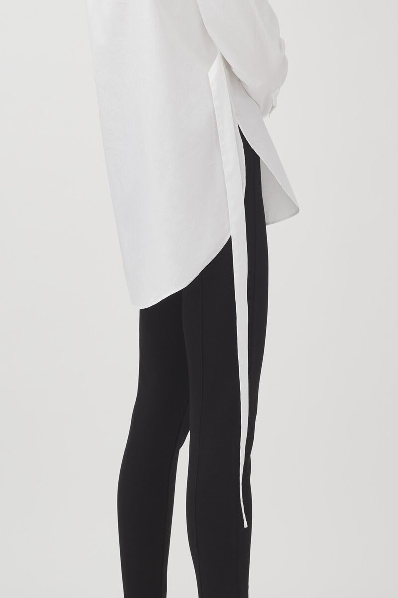 Poplin Asymmetrical Shirt in White