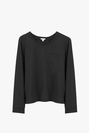 French Terry Pleat-Back Sweatshirt