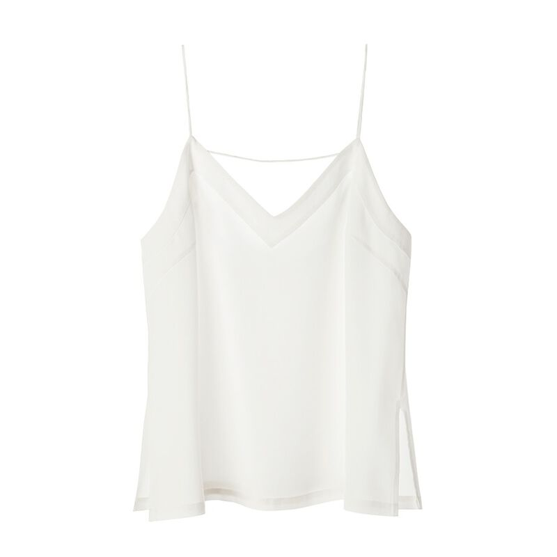 Silk Cami in White