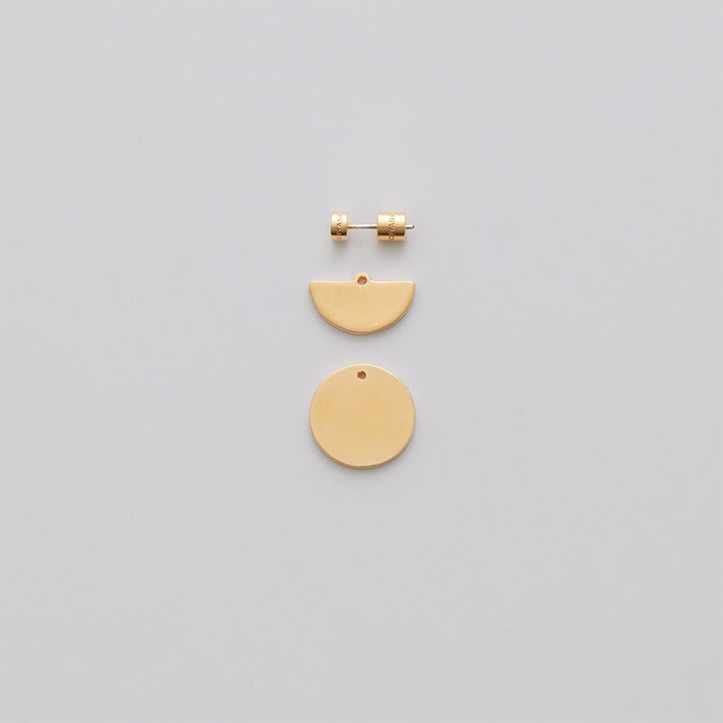 Luna Ear Jacket Earrings in Gold