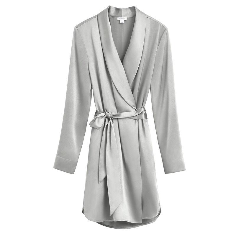 Washable Charmeuse Robe in Sage