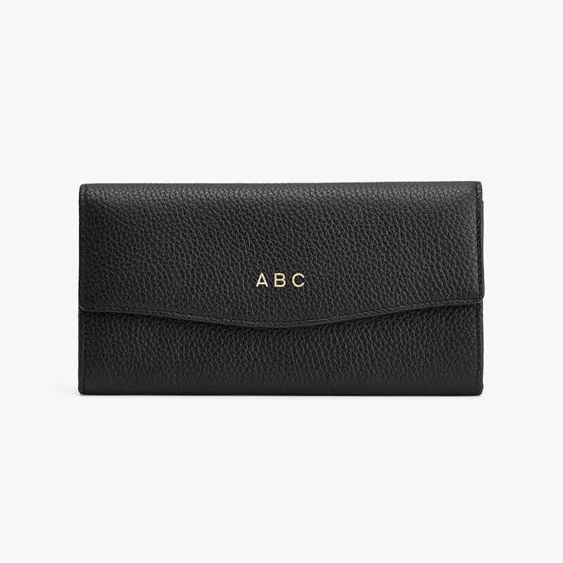 Classic Flap Wallet in Black