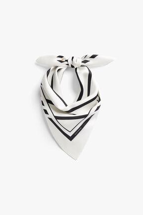 Washable Silk Striped Bandana Mask