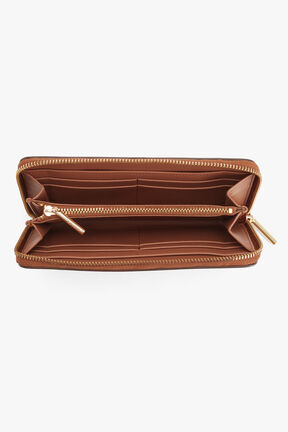 Zero Waste Classic Zip Around Wallet in Caramel