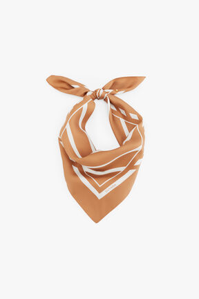 Washable Silk Striped Bandana Mask