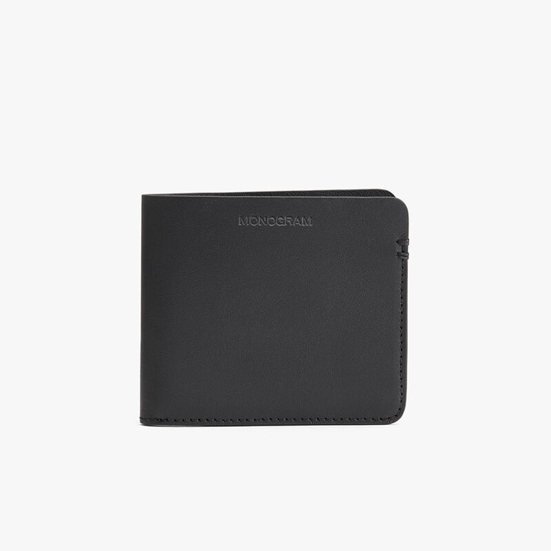 Men's Leather Folding Wallet in Black