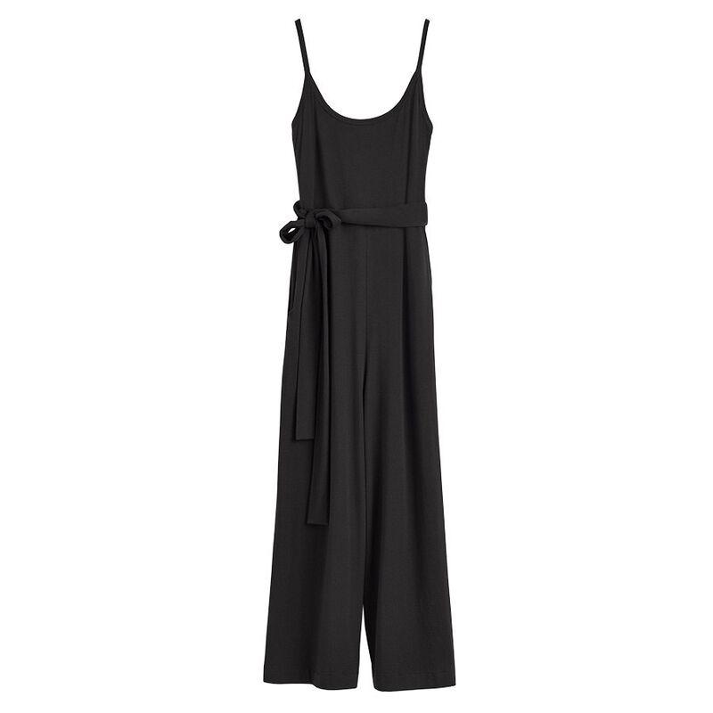V-Back Jumpsuit in Black