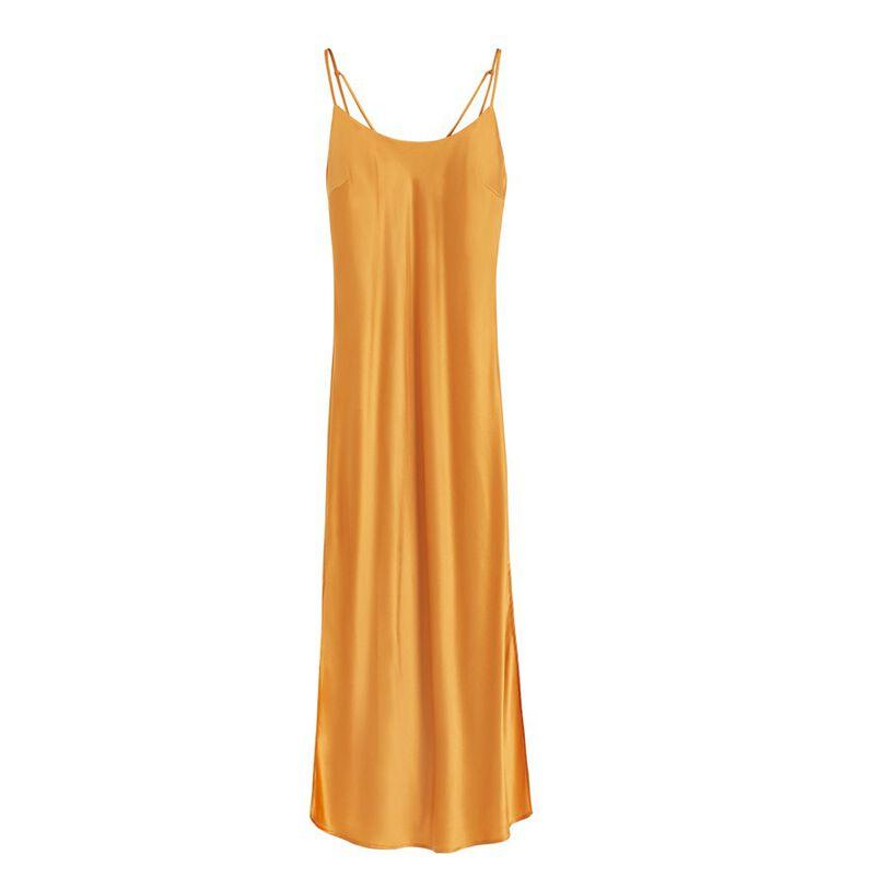 Charmeuse Slip Dress in Citrine