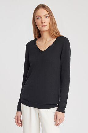 Classic Cotton Cashmere V-Neck Sweater