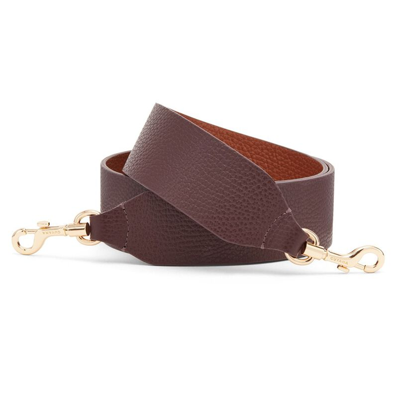 Wide Strap in Burgundy/Caramel